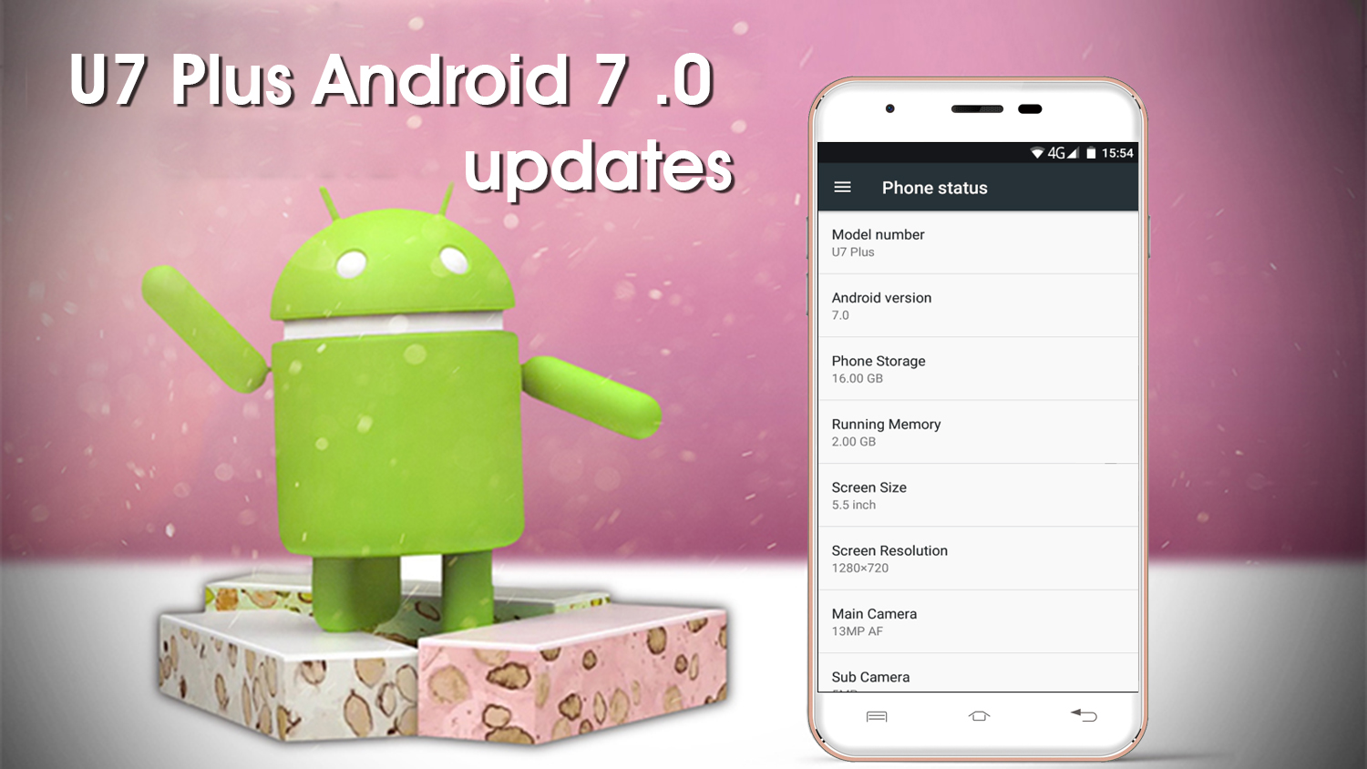 Android Android 7.0 Nougat Oukitel U7 Plus Update