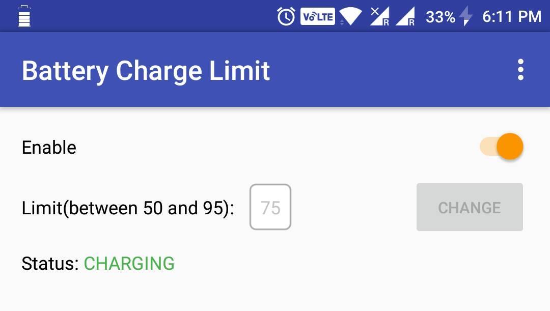akku Android battery limit maximum modding root