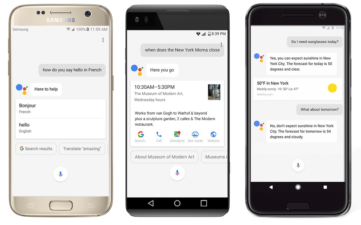 Android assistant Google hardware