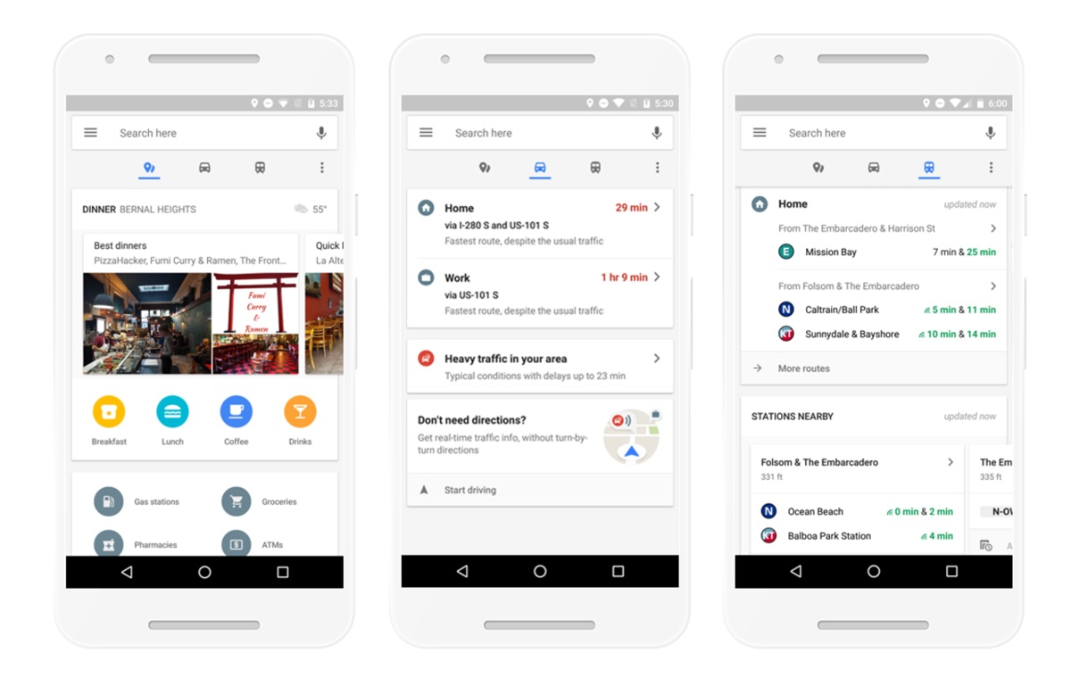Android Google karten Maps neu Update