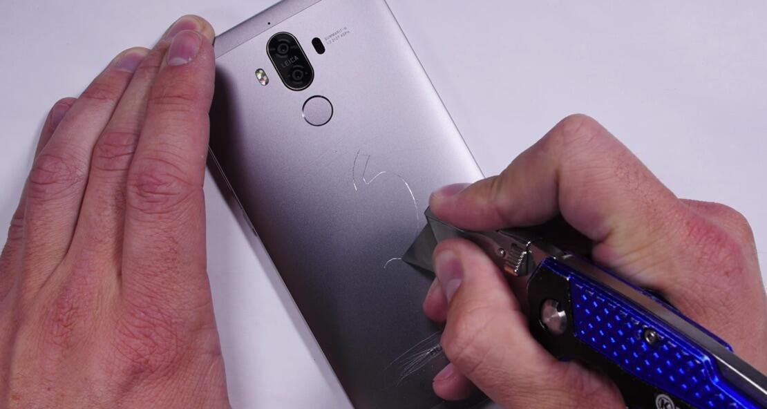Android härtetest Huawei kratzer mate 9 test