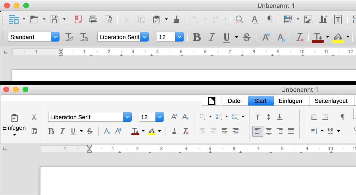 Apple LibreOffice mac office Windows