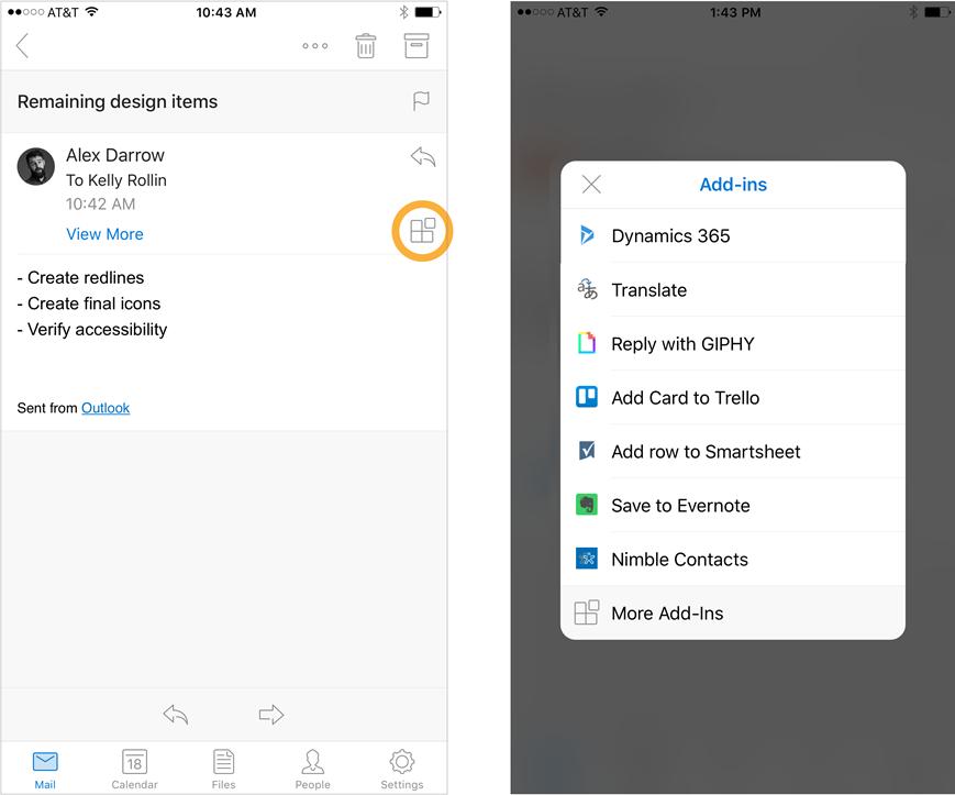 Apple E-Mail iOS mail microsoft outlook