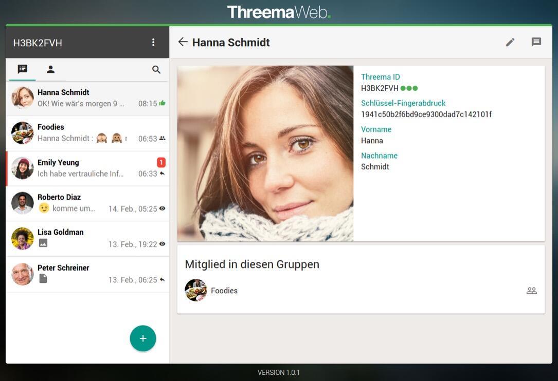 Android Messenger threema