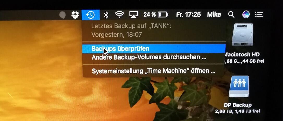 backup mac Time Machine Verify