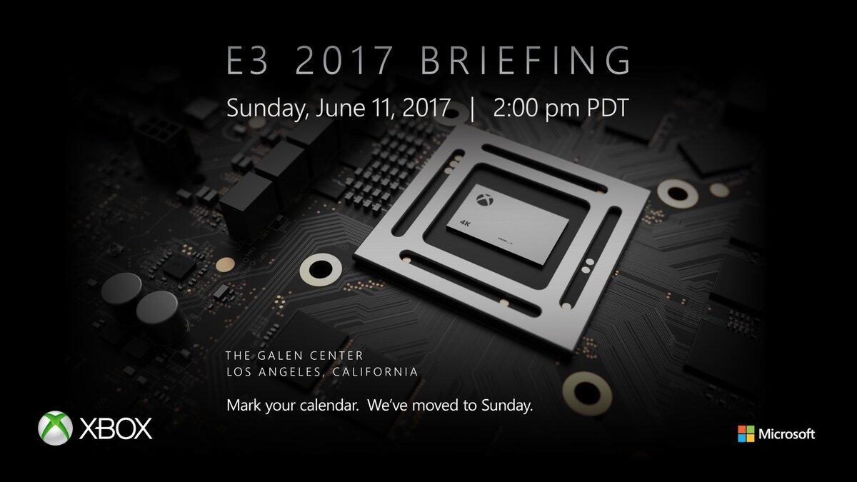 e3 event konsole microsoft scorpio xbox