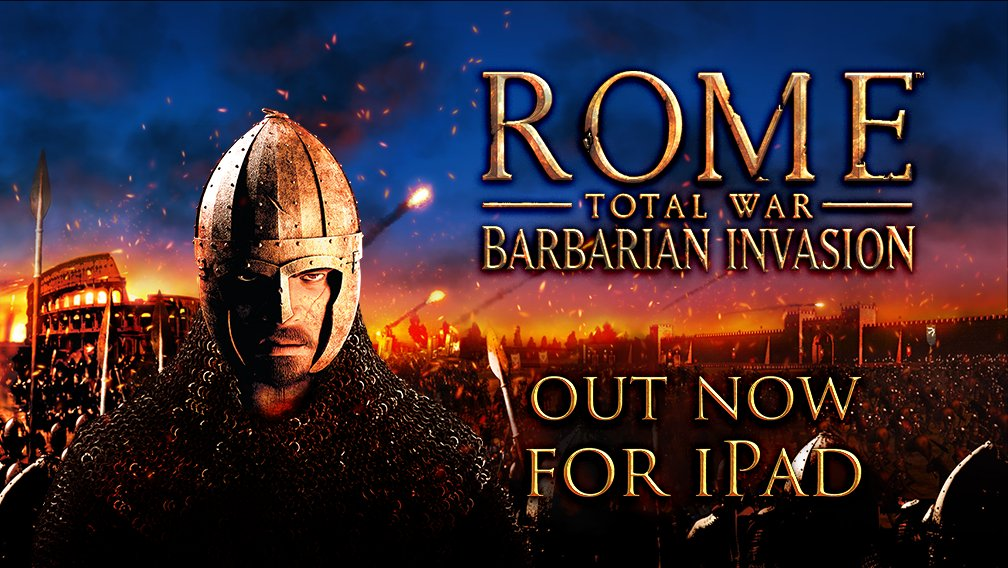 Apple barbarian invasion iOS iPad rome total war