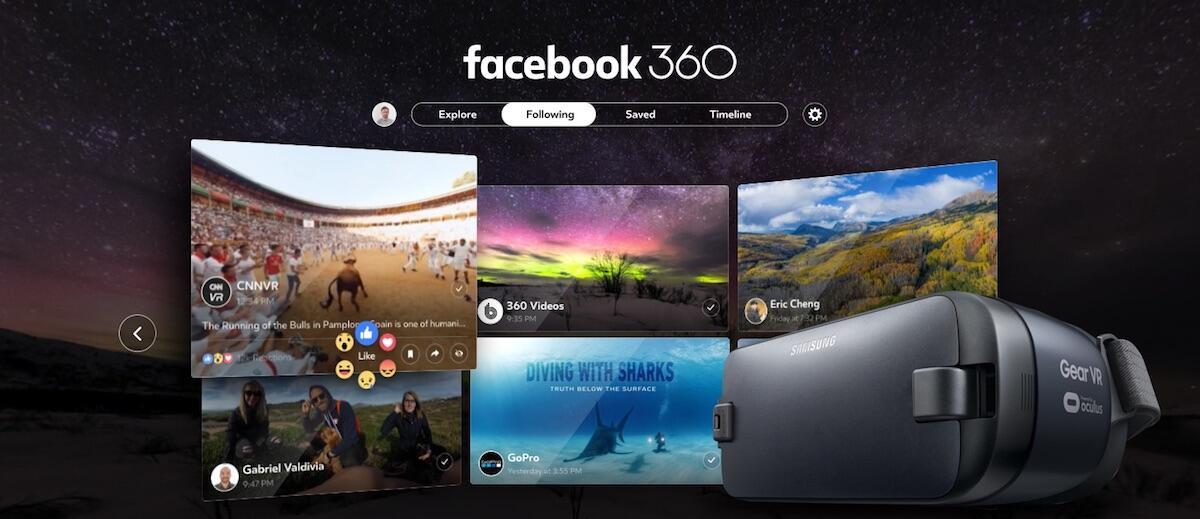 Android facebook facebook 360 Gear VR Oculus Video
