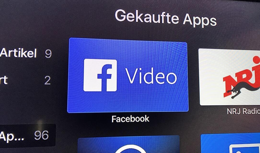 Facebook gibt Video-App für Apple TV und Amazon Fire TV frei