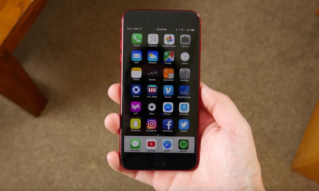 Apple front iOS iphone rot schwarz
