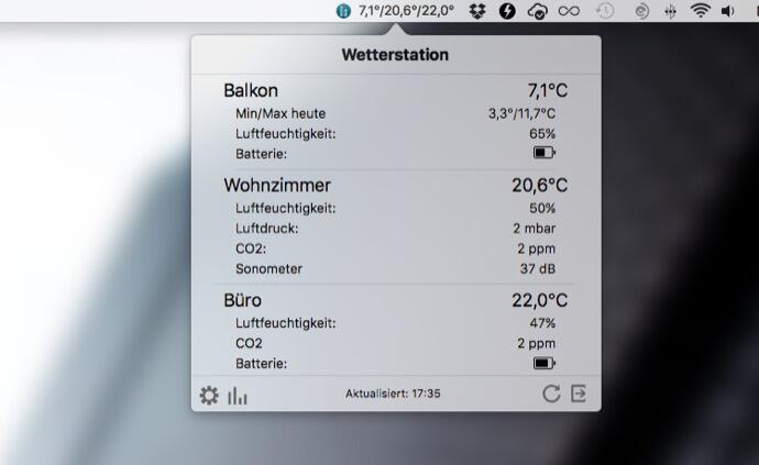 aff app Apple mac macos netatmo Wetter