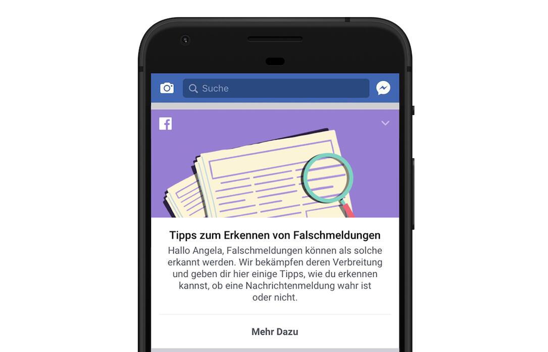 Android facebook fake falschmeldungen Google iOS Nachrichten News
