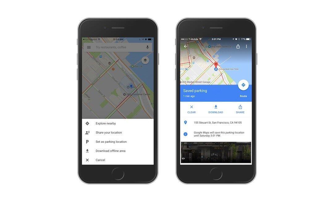 Mit Google Maps den Parkplatz wiederfinden