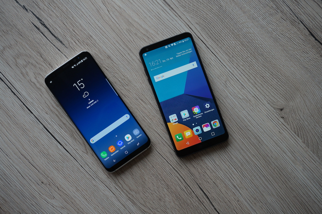 1 aff Android g6 galaxy Google LG review s8 Samsung test vergleich yt