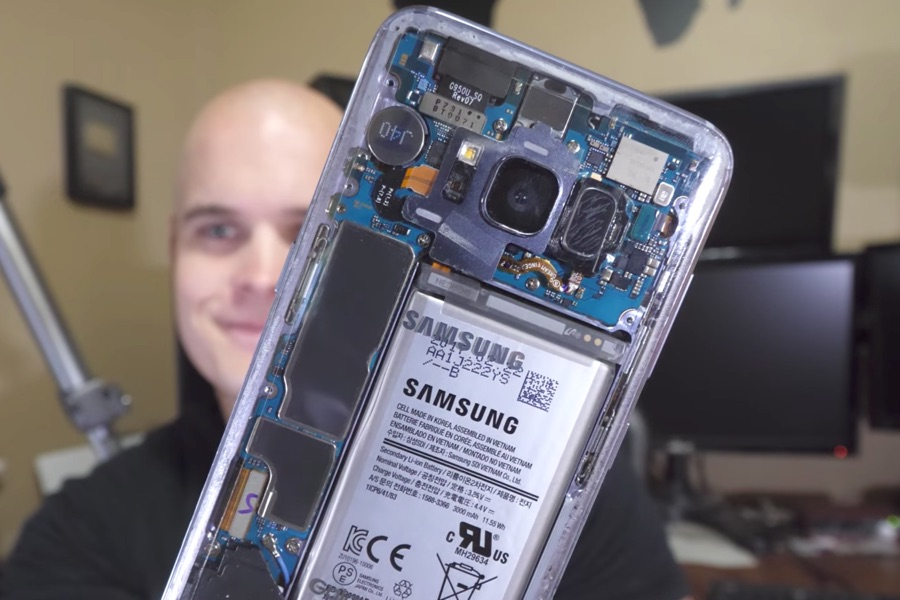 Android galaxy rückseite s8 Samsung transparent
