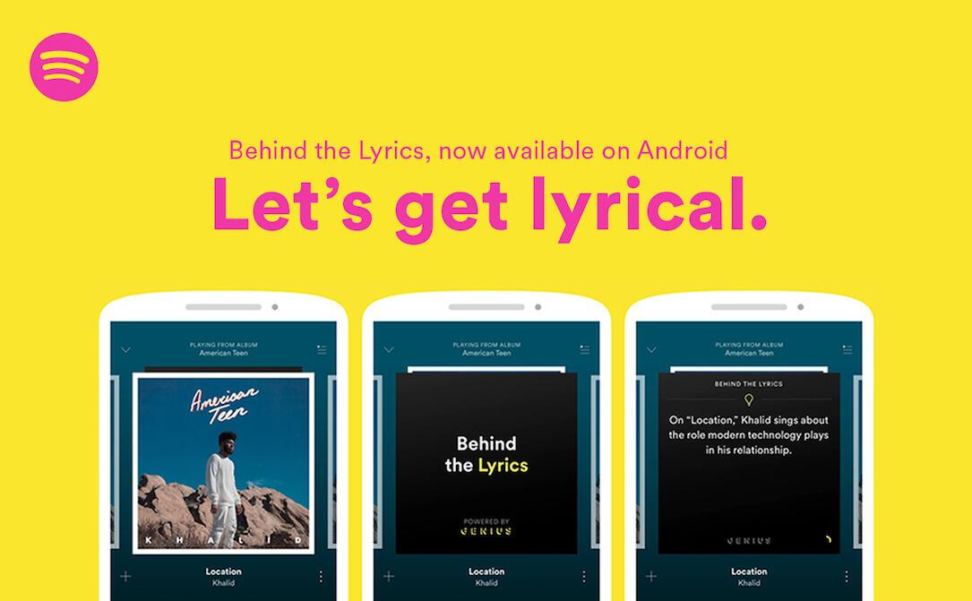 Android genius lyrics spotify