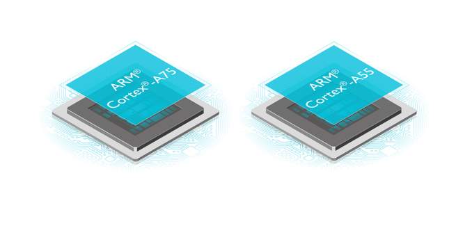 arm Cortex A55 Cortex A75 gpu Mali-G72 prozessor