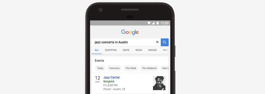 events Google Google Suche