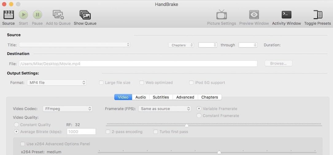 Apple Converter Handbrake mac Malware Video