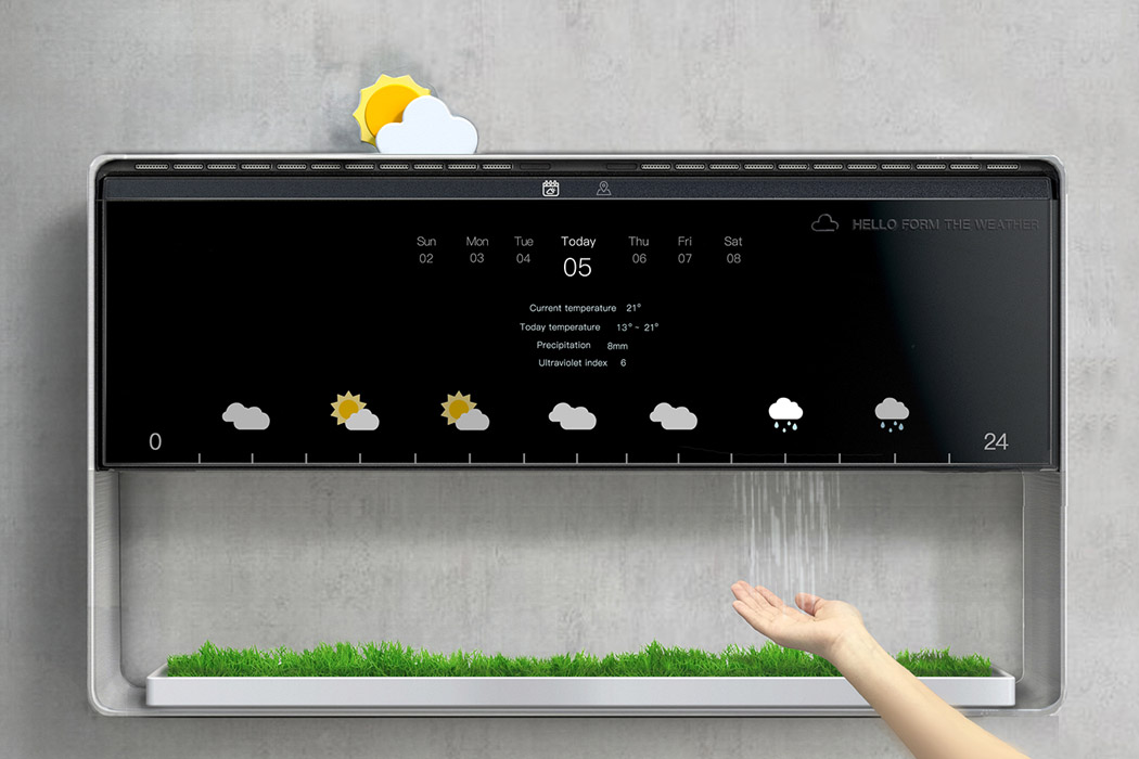 app design Vorhersage weather Wetter Wetterstation Yanko