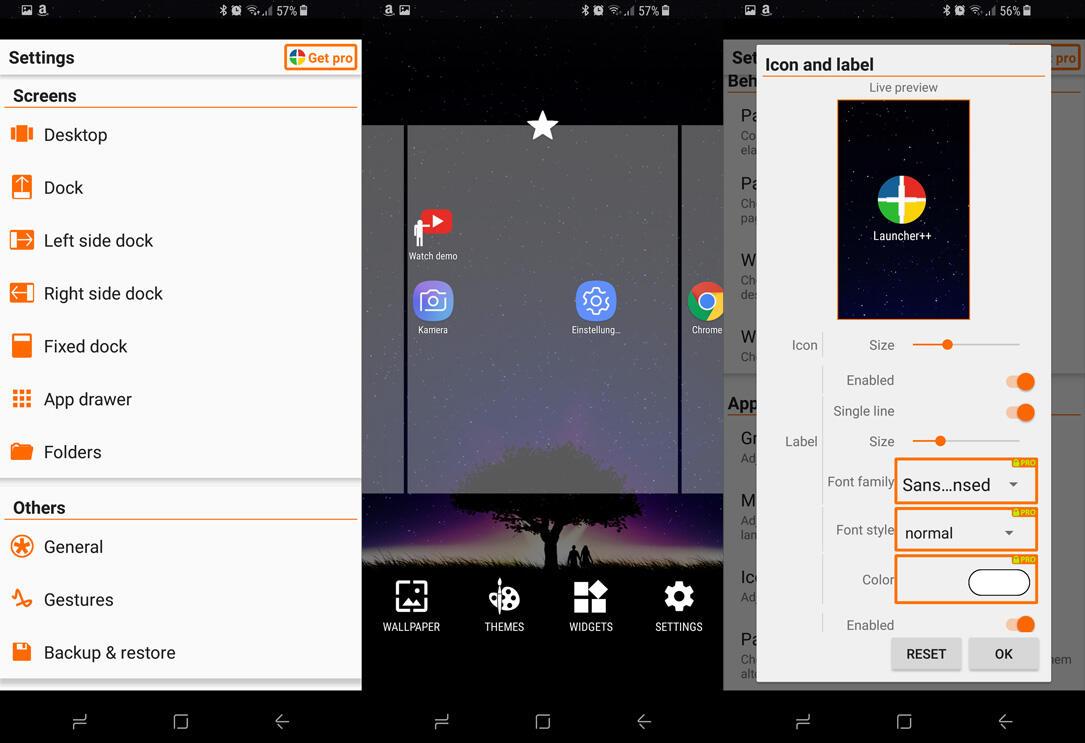 adw Android APEX launcher nova