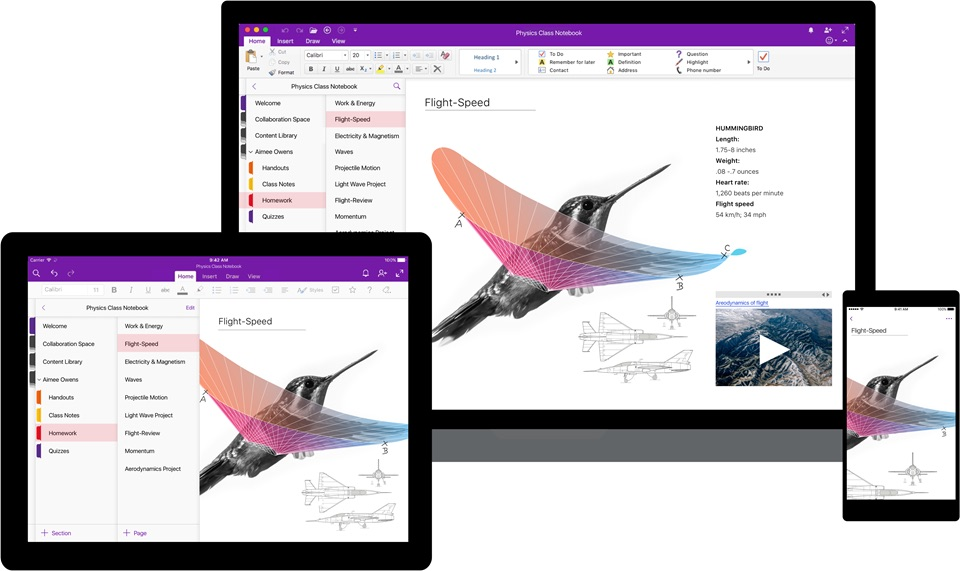 Android iOS mac microsoft onenote Windows