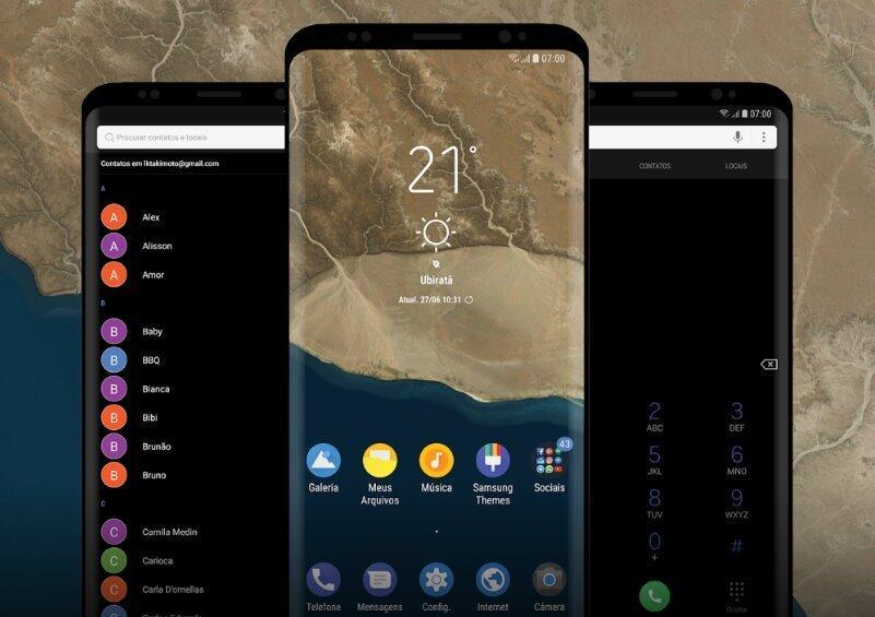 Android design galaxy O Samsung Theme