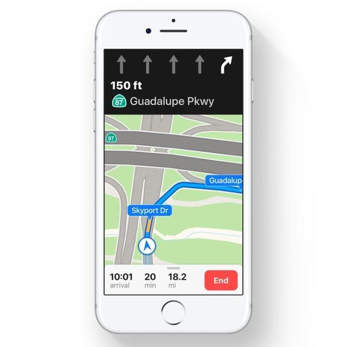 Apple iOS ios 11 karten Maps navigation