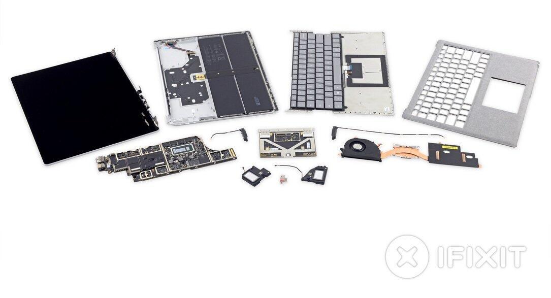 ifixit microsoft Surface Laptop teardown