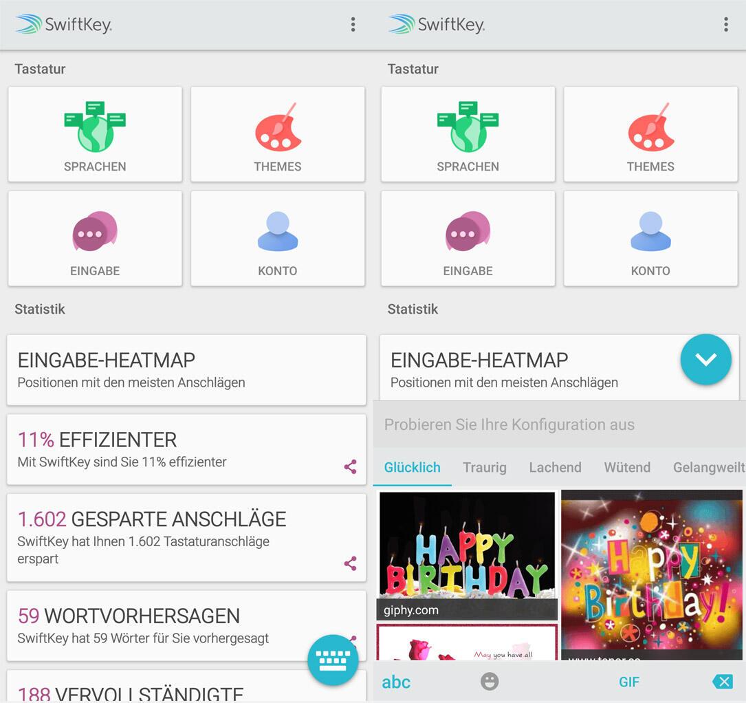 Android GIF keyboard swiftkey