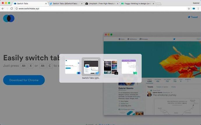 Browser chrome erweiterung plugin Tabs Tool