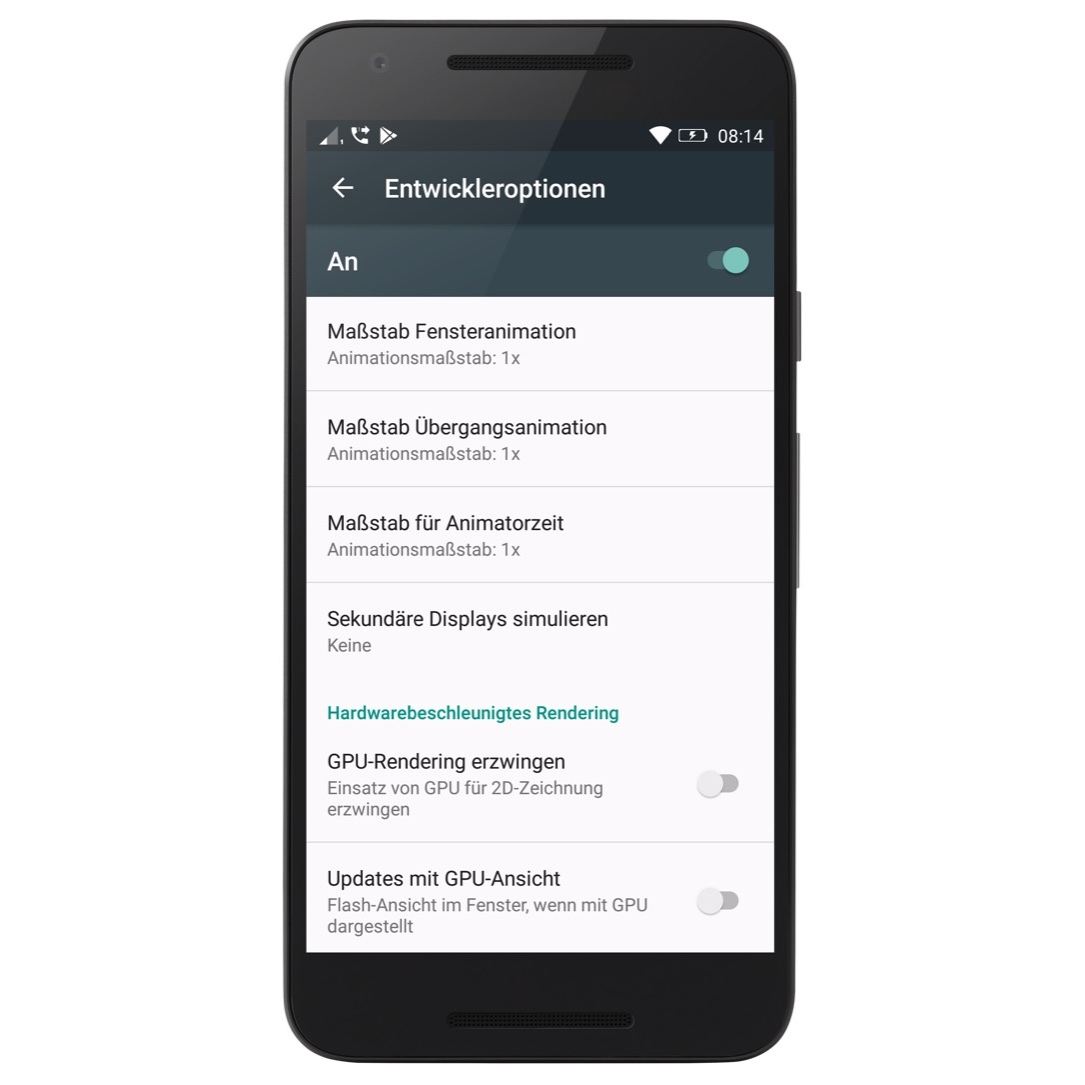 Android Animation Google hinweis tipp