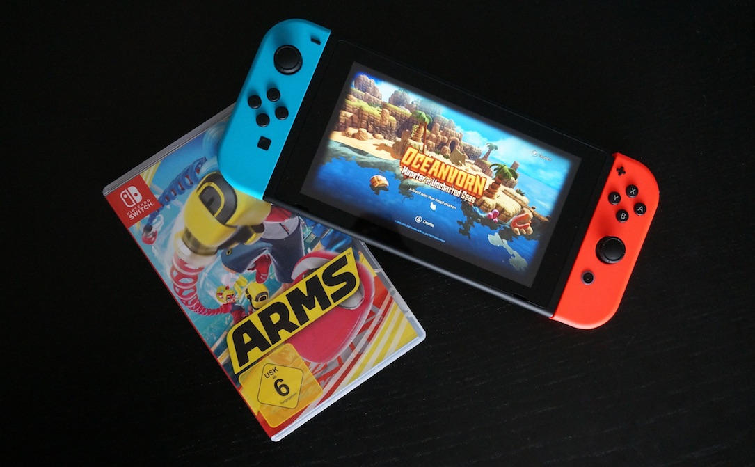 aff arms Nintendo oceanhorn Switch test