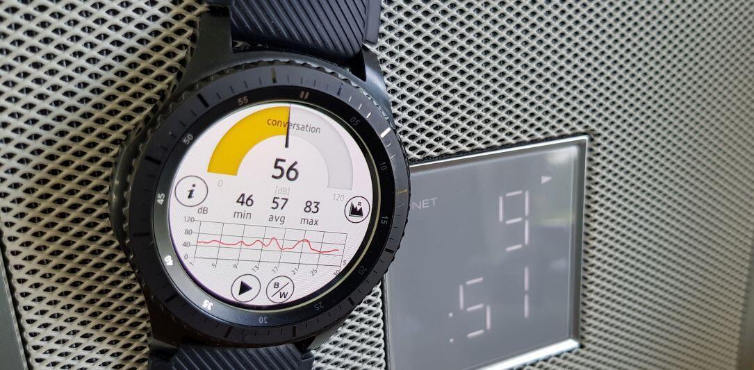 Android Decibel Samsung smartwatch tizen