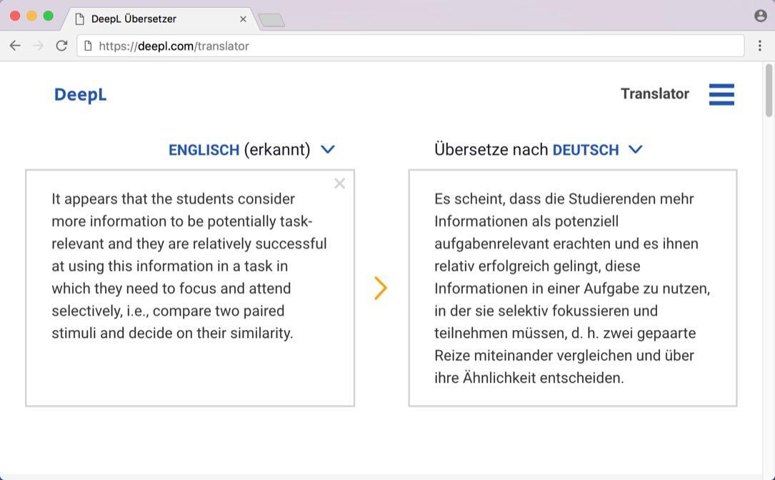 dienst Tool translate übersetzer