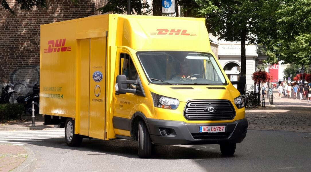 auto dhl e-auto ford KFZ post