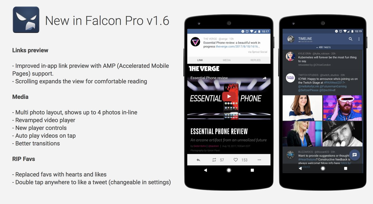 Android Falcon twitter Update