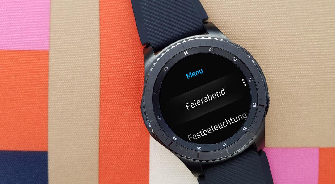 devolo Gear S3 Frontier Heimsteuerung IFA2017 smart home tasker Tasks tizen Wearables