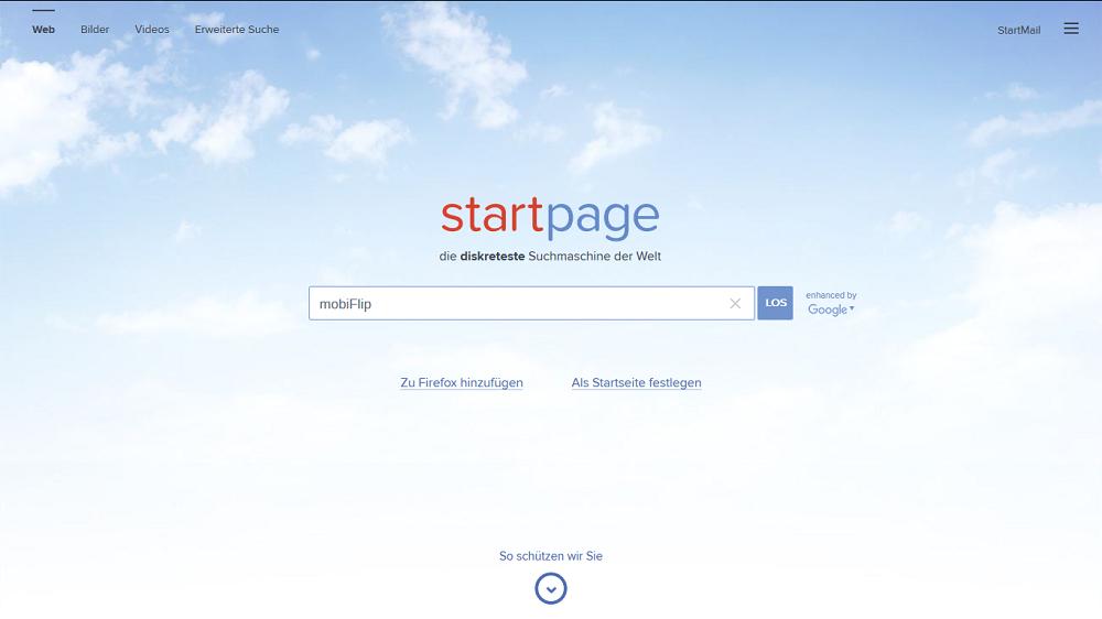 Anonym Daten Google privatsphäre proxy Qwant server StartPage suche Suchmaschine web