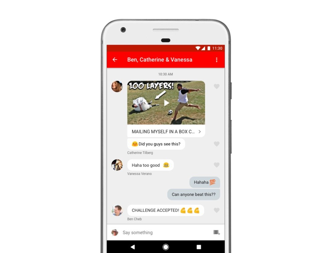 Android app chat Google iOS teilen YouTube