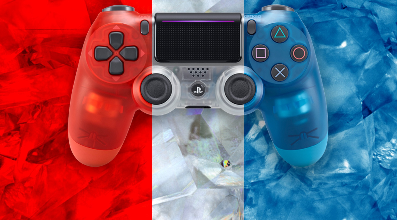 aff crystal dualshock 4 playstation Playstation 4 Sony