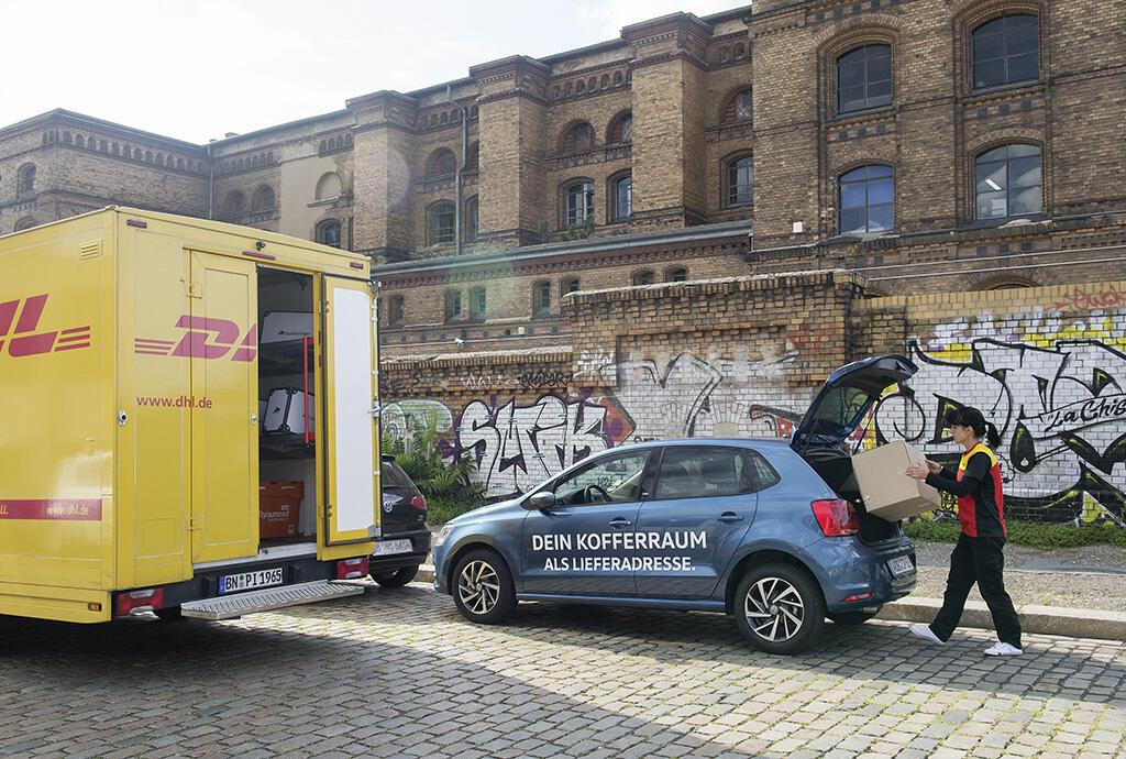 dhl kofferraum volkswagen VW