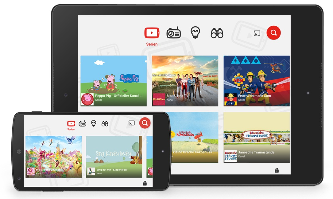 Android app Apple iOS kids YouTube
