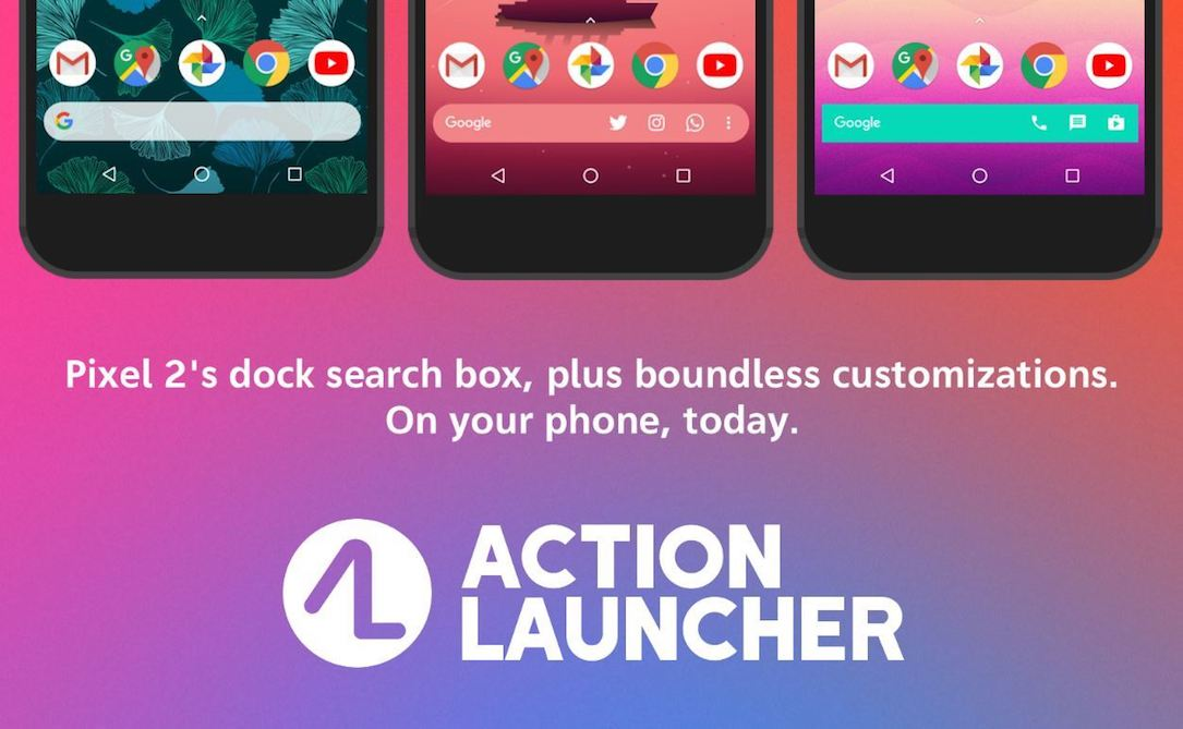 action lanucher Android beta Google leiste pixel quickbar suche