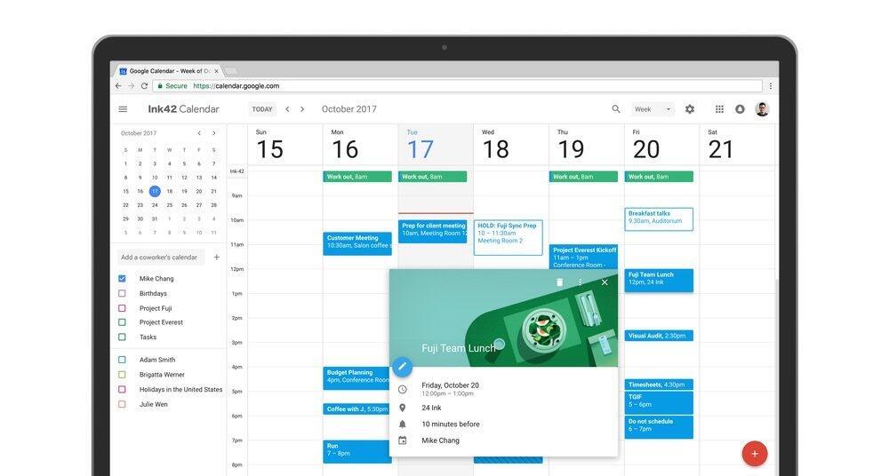 Google Kalender neu web