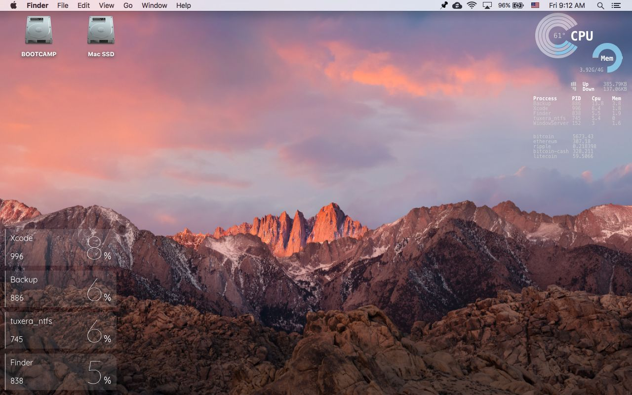 desktop mac macos OSX Systeminformationen