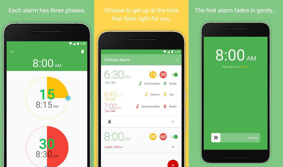 3 Phasen Android Wecker