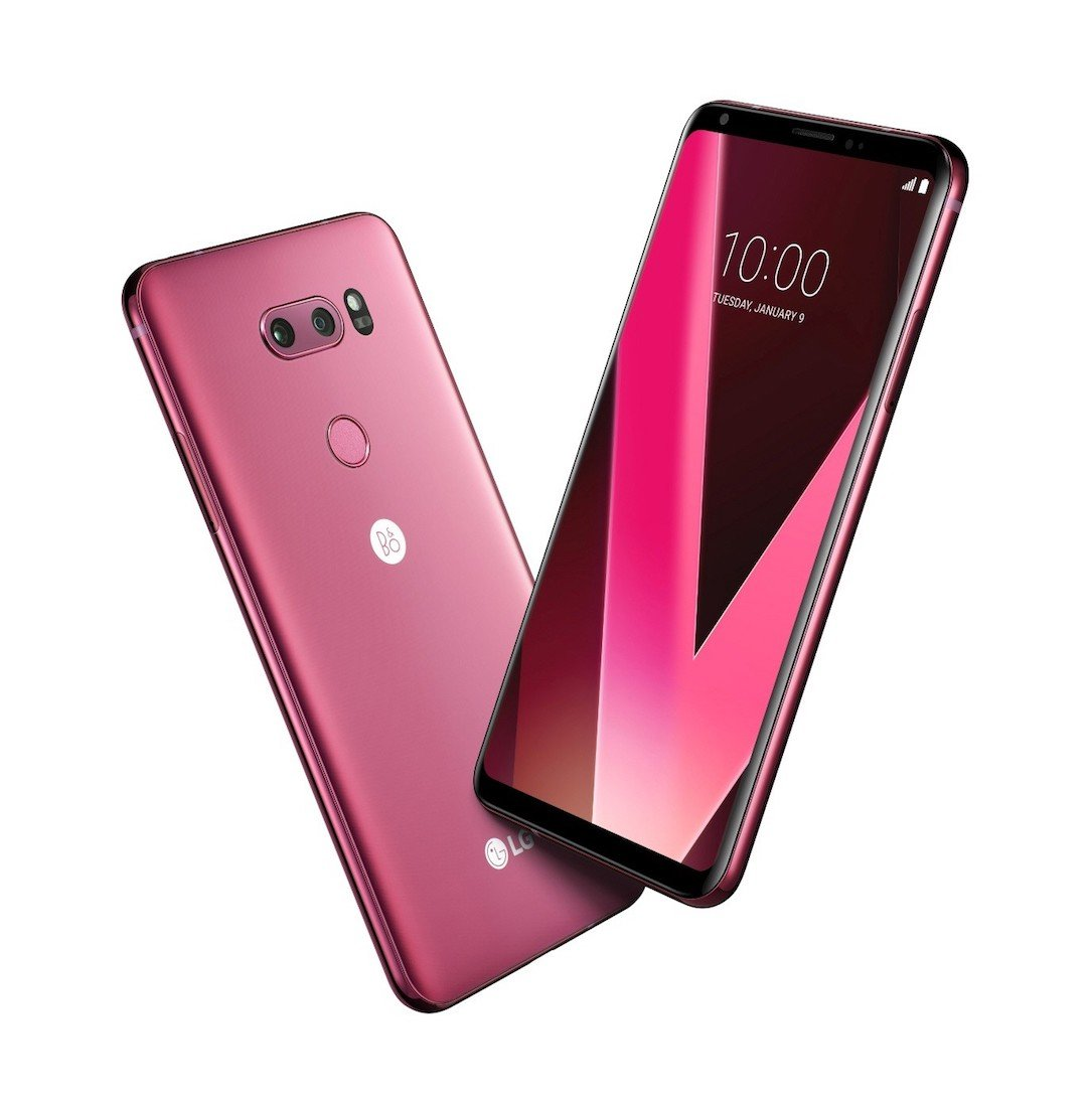Android CES2018 farbe LG neu RASPBERRY ROSE v30