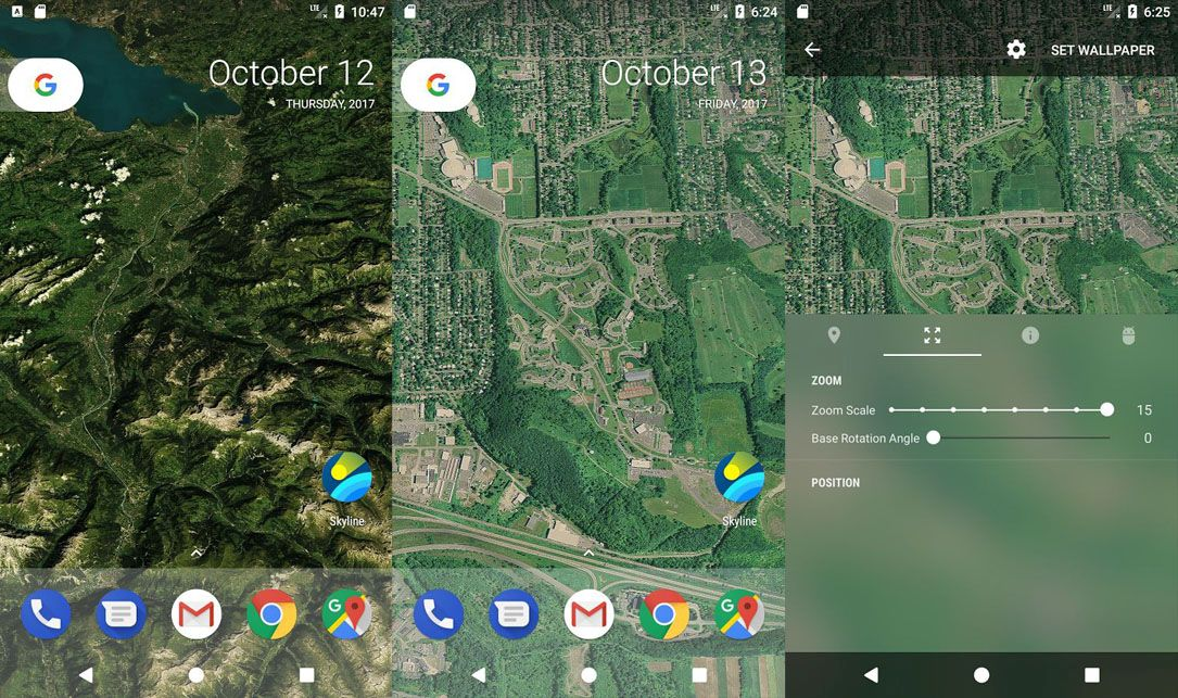 Android Landscape live wallpaper pixel