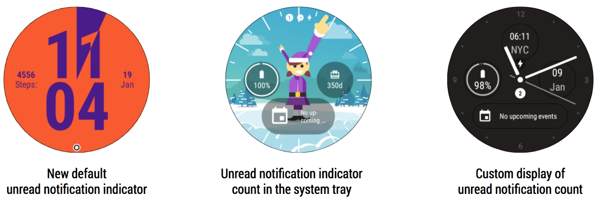 Android notification Unread Counter Update wear